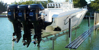 custom hydraulic boat lift